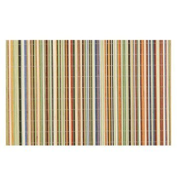 Amazon Com Benson Mills Rainbow Sticks Bamboo Multi Colored Placemats Set Of 4 Kitchen Dining Coloring Placemats Kitchen Placemats Placemats