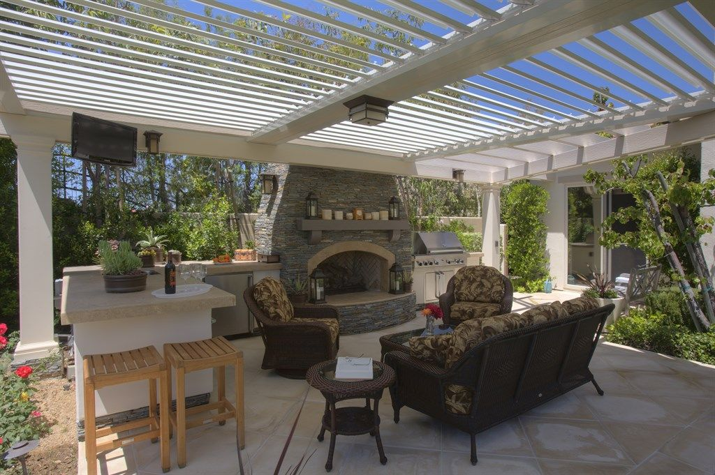 2 Bays Louvered Patio Roof Dream Homes In 2019
