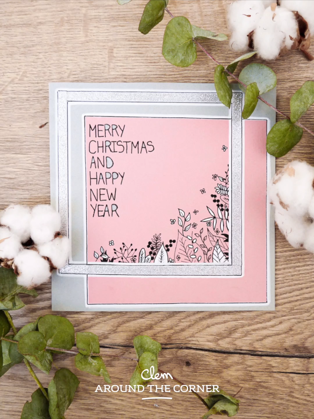 Merry Christmas And Happy New Year Greeting Card Craft For Kids Do It Yourself Best Wishes Card Greeting Card Craft Christmas Cards Drawing Diy Christmas Cards