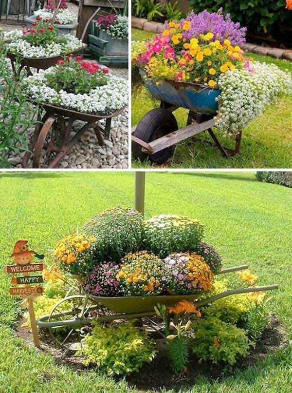 top 30 stunning low budget diy garden pots and containers gardening pinterest g rten. Black Bedroom Furniture Sets. Home Design Ideas