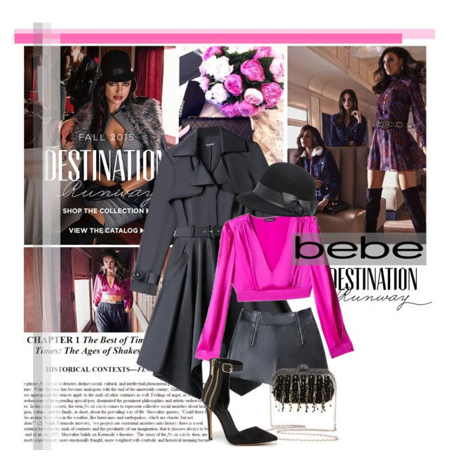 """""""Destination Runway with bebe"""" by junglover ❤ liked on Polyvore featuring Bebe, Fall, bebe, polyvoreeditorial and polyvorecontest"""