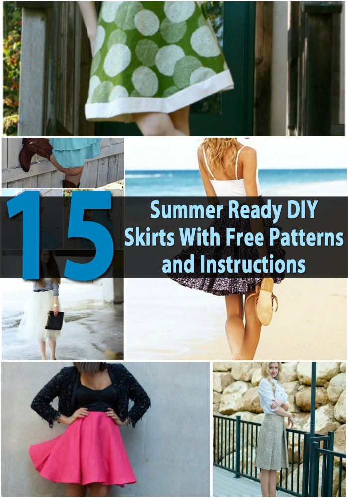 Top 15 Summer Ready DIY Skirts With Free Patterns and Instructions ...