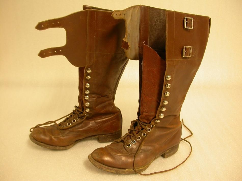 boots | ... calf-length lace-up riding boots. Made by H(?) Posker ...