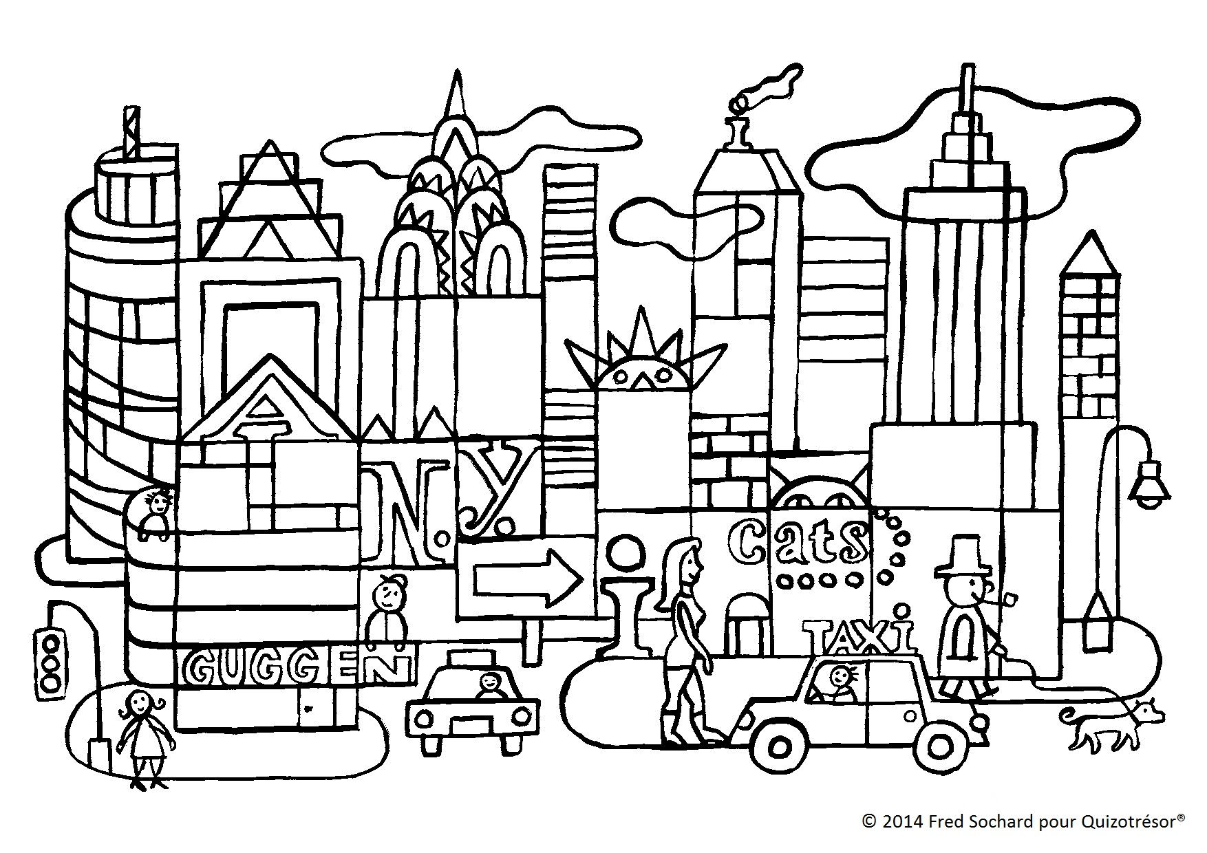 Coloriage new york my blog - Coloriage ville ...