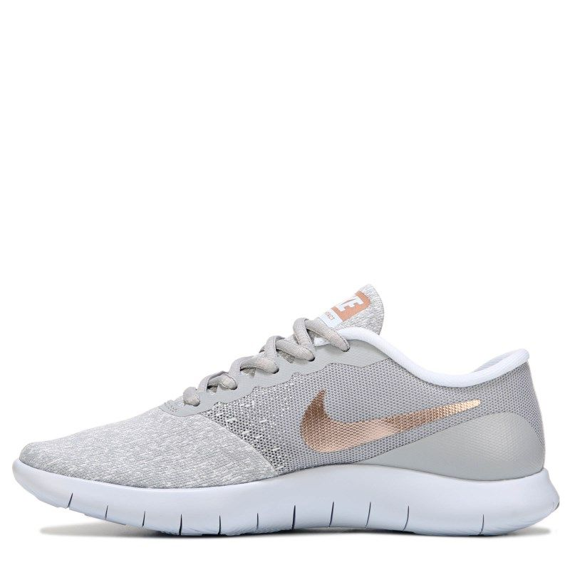 eb76e85ce7a5f Nike Women s Flex Contact Running Shoes (Grey   Rose Gold)