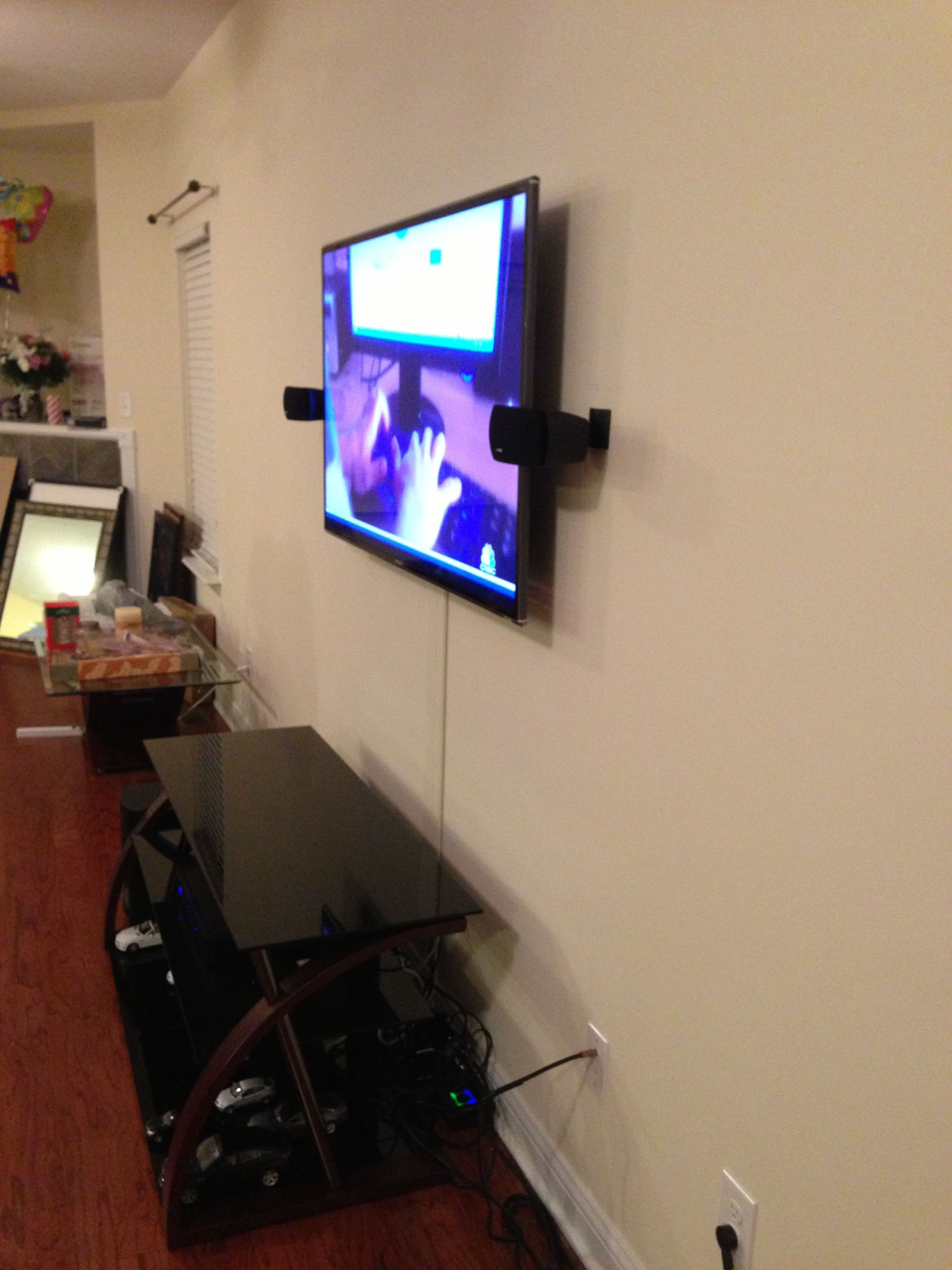 TV installation with the wires concealed in wire cover   Stem TV ...