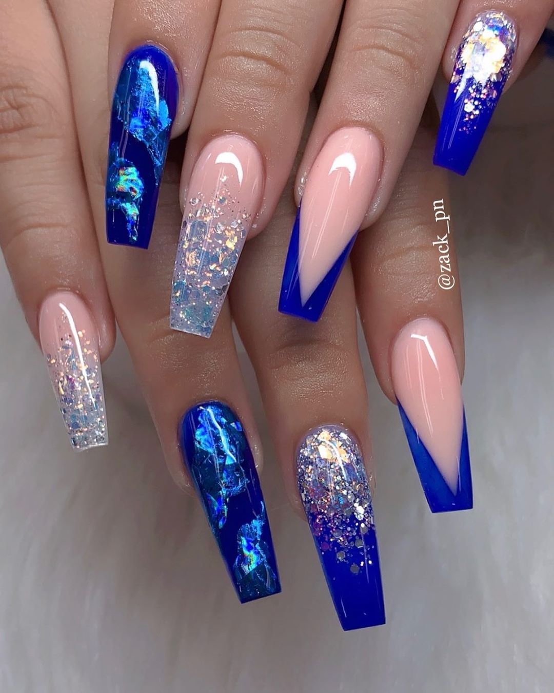 Zack Pn On Instagram Summer Fire Nailpro Nailpolish Naildesigns Nails Coffinnails Summer Acrylic Nails Blue Acrylic Nails Coffin Nails Designs