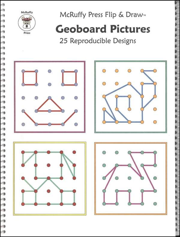 Geoboard Pictures Flip & Draw Book (040642) Images - Rainbow ...