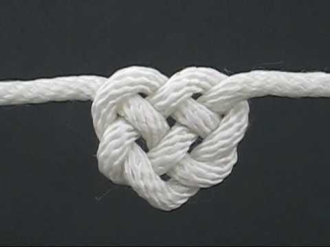 How to Tie the Celtic Heart Knot by TIAT (A Knotty Valentine) #Knot #Celtic_Heart #TIAT