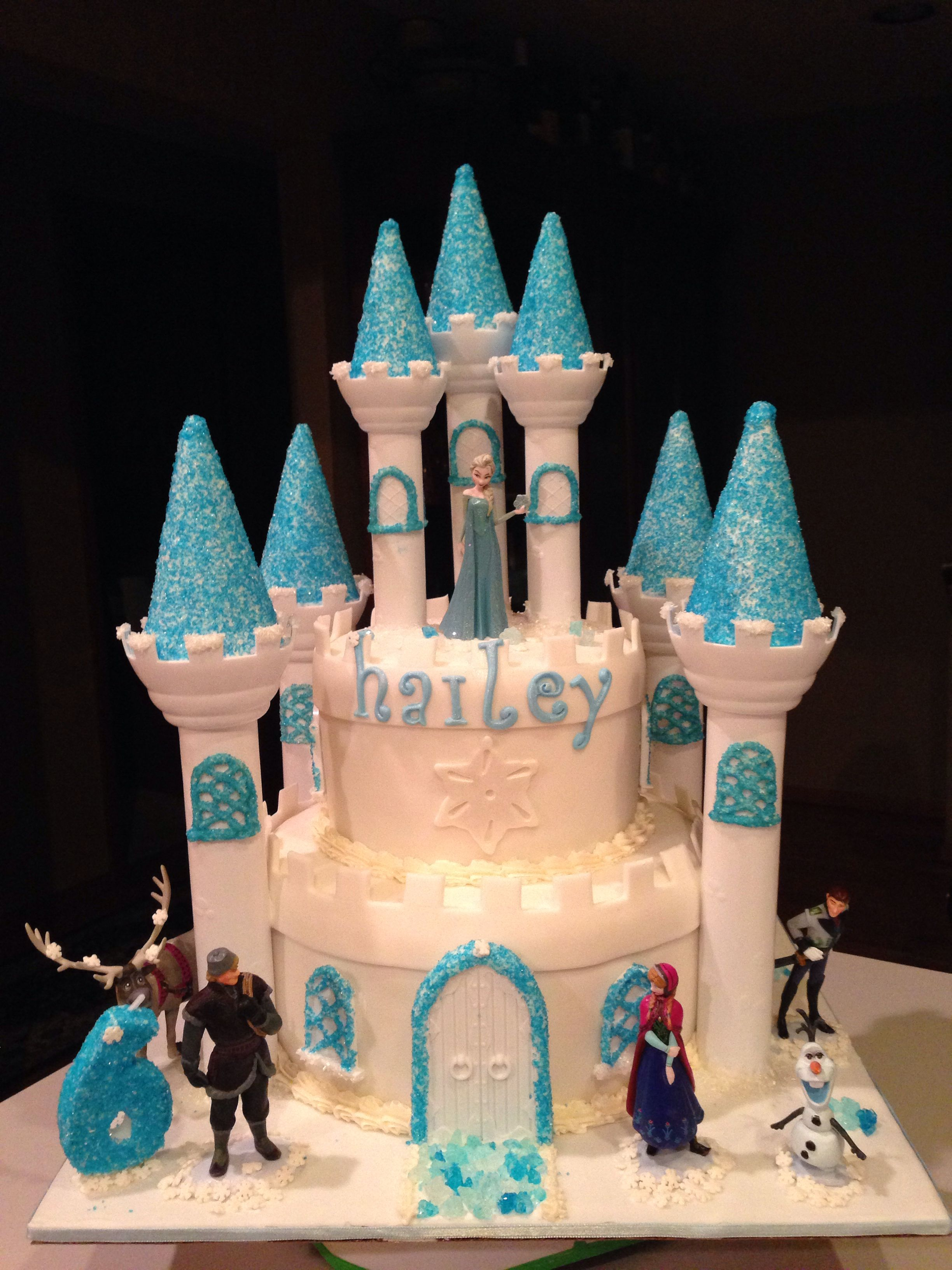 Incredible Frozen Castle Cake With Images Cute Birthday Cakes Unicorn Funny Birthday Cards Online Overcheapnameinfo