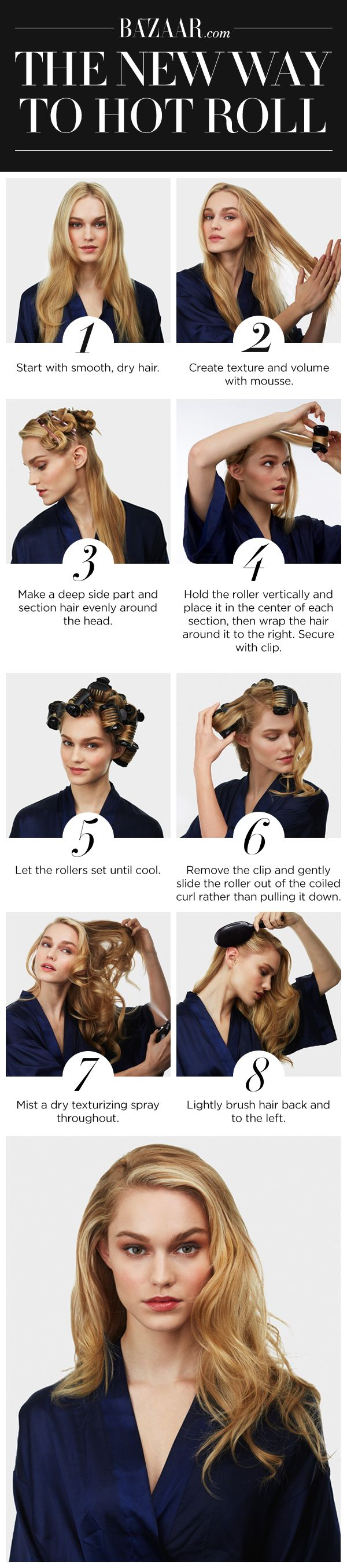 The New Way To Use Hot Rollers How To Curl Your Hair Hair Styles Long Hair Styles