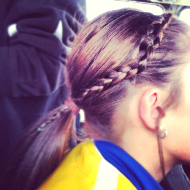 Pin On Softball Hair Do S