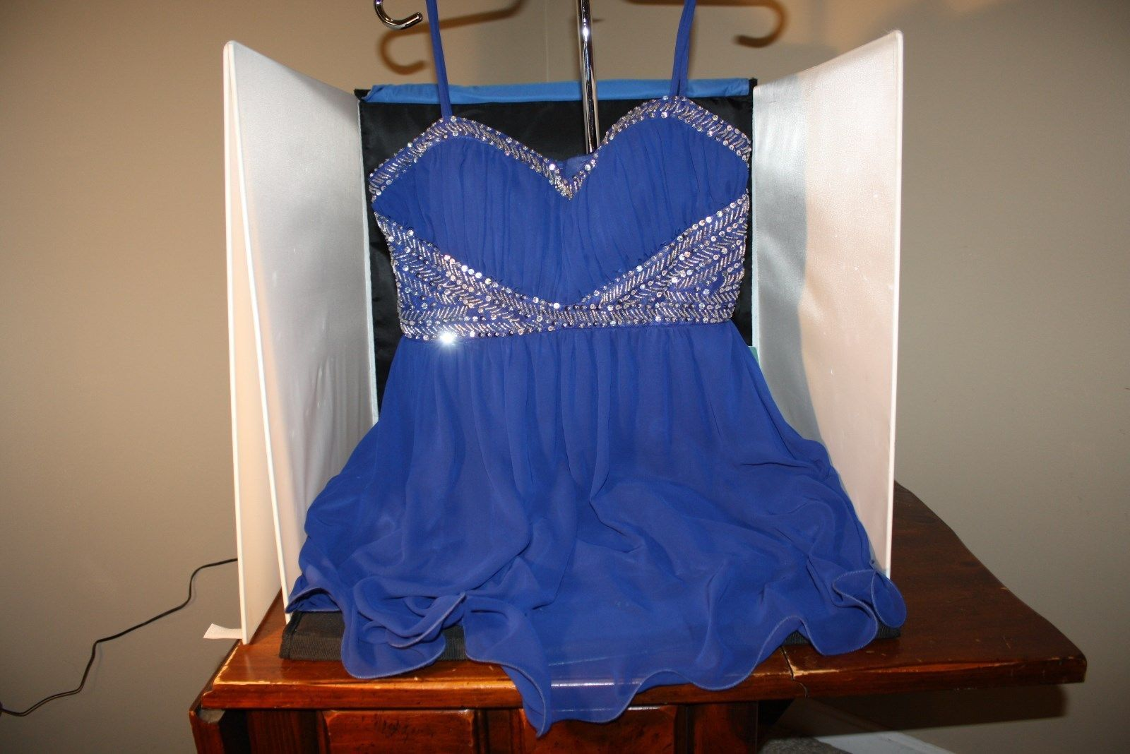 Cool great b smart nwt short party formal dress blue silver