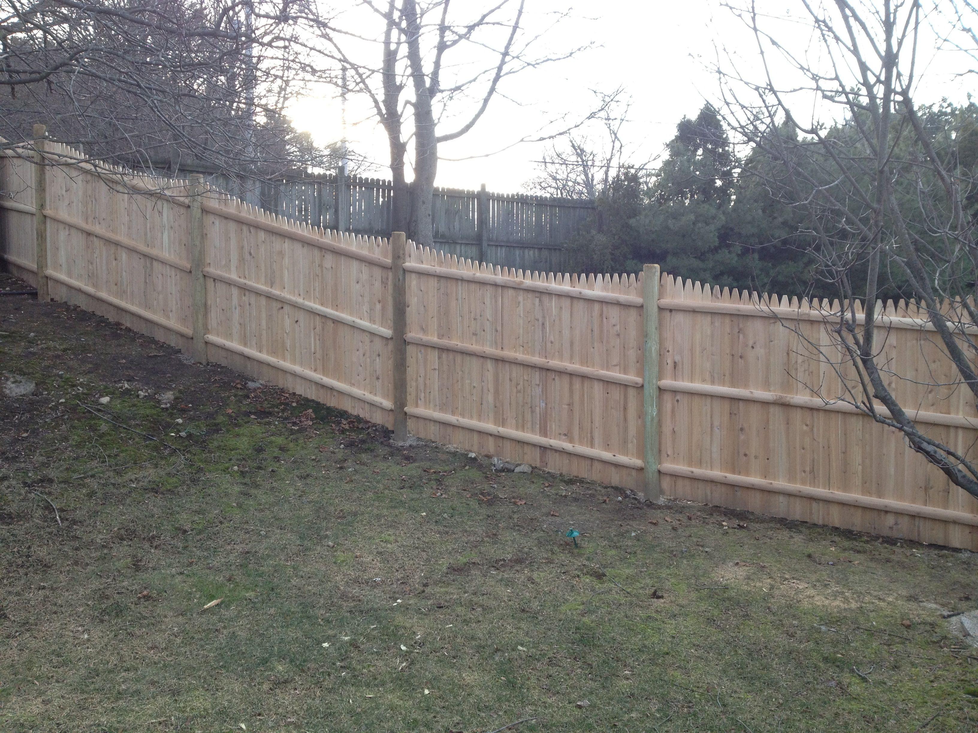 6 Scalloped Stockade Fence Beverly Ma Fence