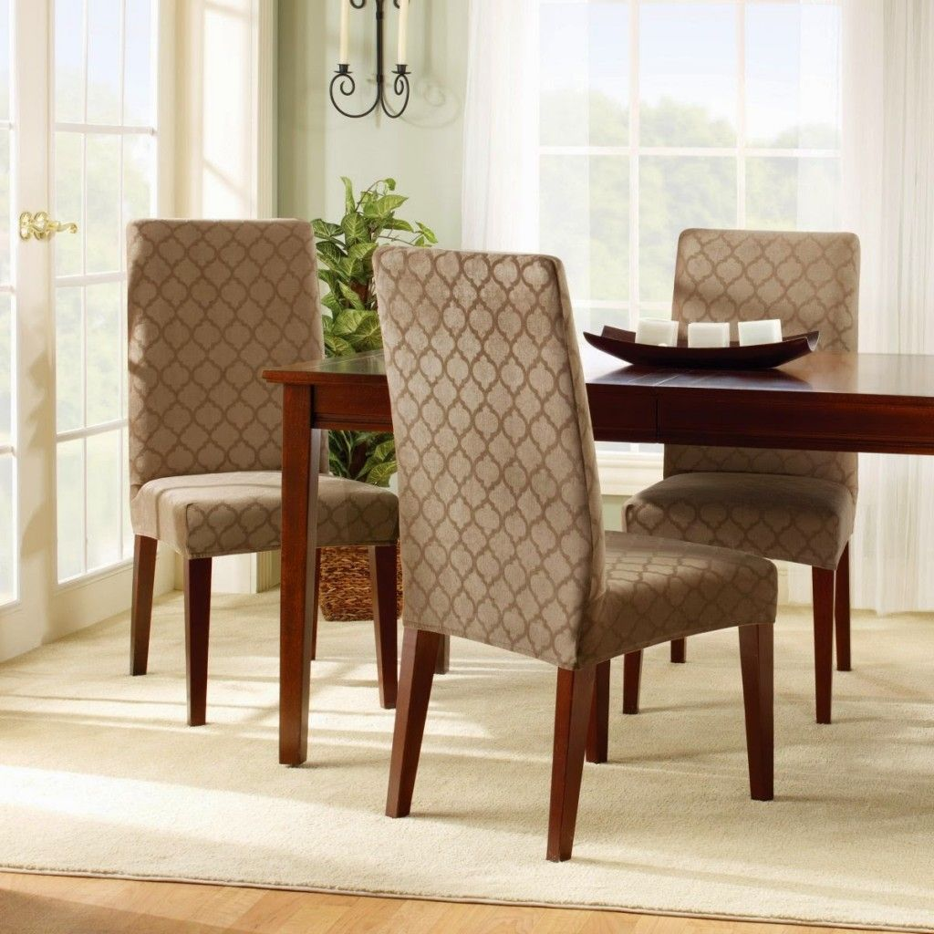 Covering Chair Seats Slipcovers for chairs, Brown dining
