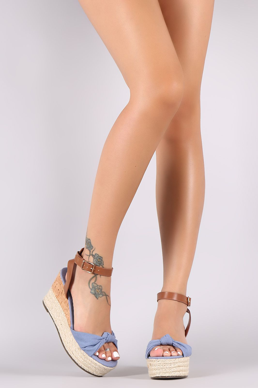 ff4f1a84608 FREE SH & Easy Returns! Shop Bamboo Knotted Bow Cork Espadrille ...