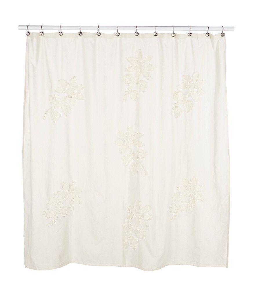 Southern Living Newport Floral Fringe Shower Curtain Newport