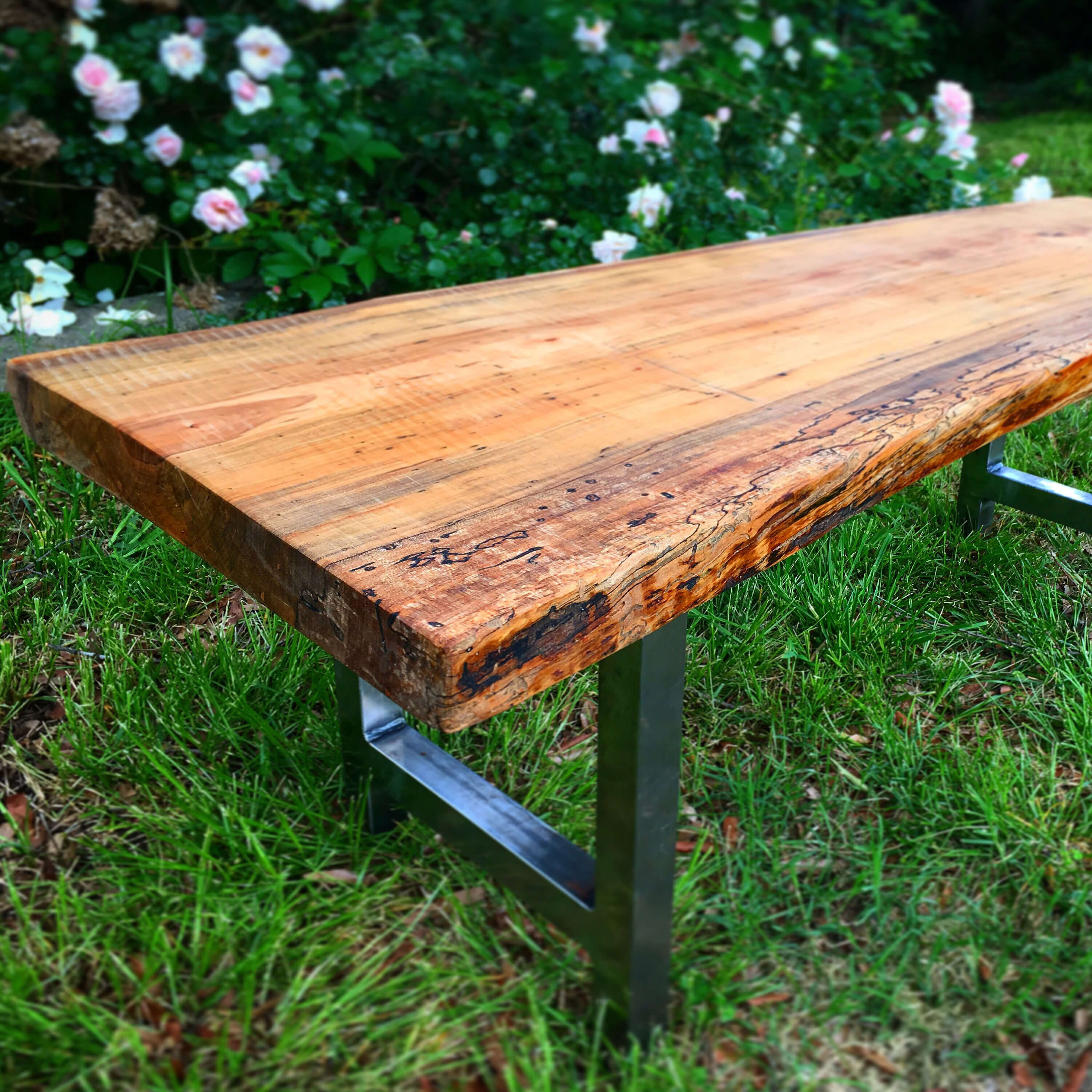 Admirable Diy Rustic Live Edge Wedding Bench The Home The Ibusinesslaw Wood Chair Design Ideas Ibusinesslaworg