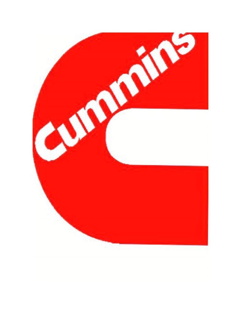 Red Cummins Vinyl Decal UV Resistant Sticker Custom Made Decals - Custom made vinyl decals