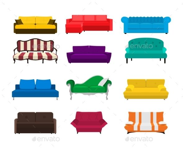 vector sofa set icon colored collection isolated fonts logos rh pinterest com Business Card Icon Business Card Icon