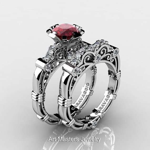 Art Masters Caravaggio 14K White Gold 1.0 Ct Ruby by artmasters, $1899.00