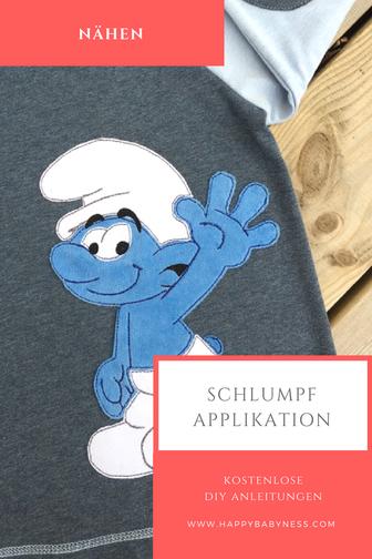 SCHLUMPF #APPLIKATION ___ *** Kostenlose #DIY Anleitung auf Deutsch ...