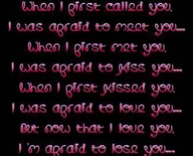 When I first called you