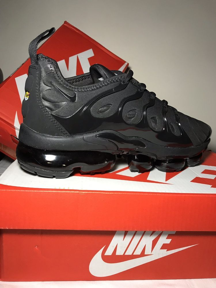 804ee3756b0 NEW NIKE AIR VAPORMAX PLUS TRIPLE BLACK HOT SELLER!!! SIZE 10  fashion   clothing  shoes  accessories  mensshoes  athleticshoes (ebay link)