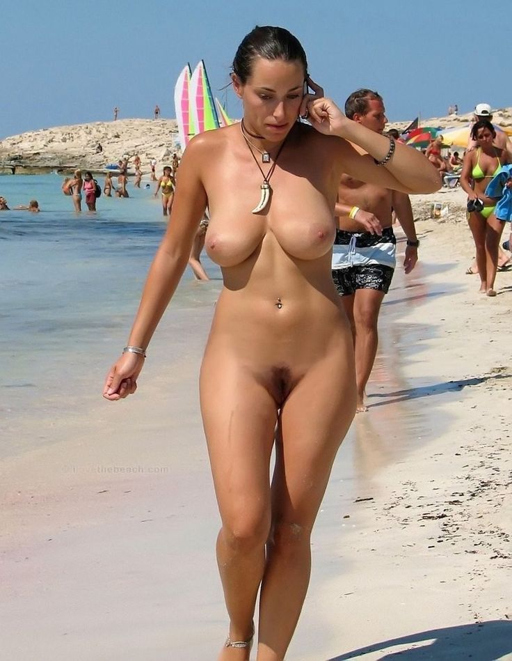 Beautiful nude women on beach