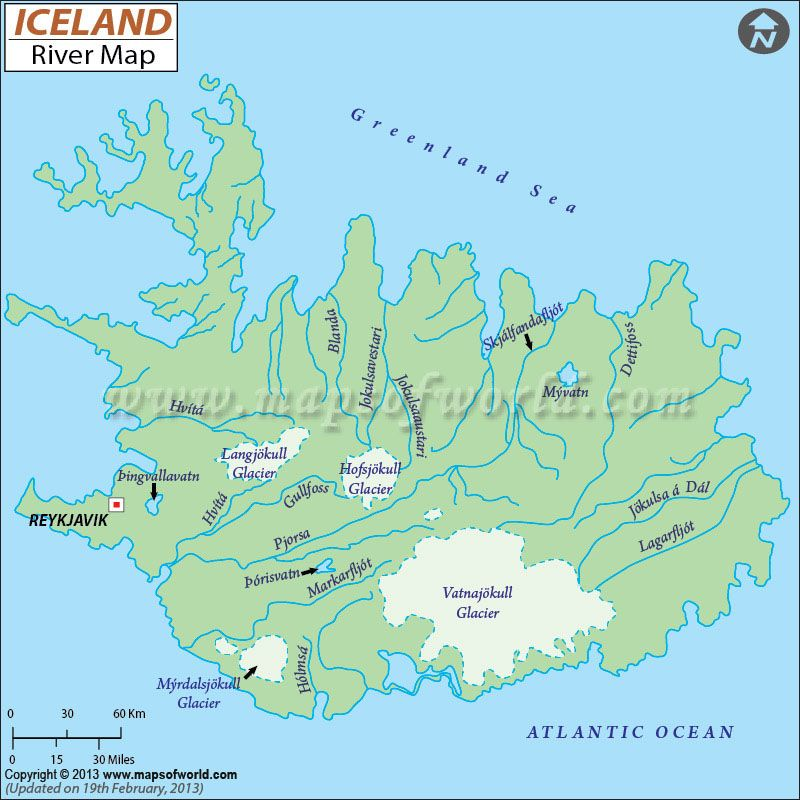 Iceland river map geography pinterest iceland rivers and iceland river map gumiabroncs Gallery