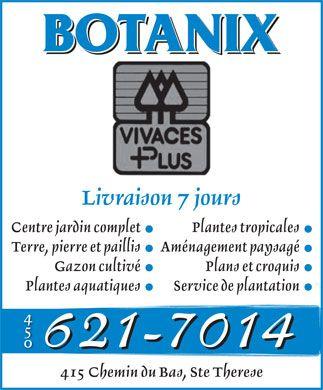 Vivaces Plus 412 Chemin Du Bas Ste Therese Blainville Qc J7a 0a1 450 621 7014