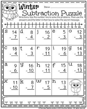 1st Grade Math And Literacy Printables January 1st Grade