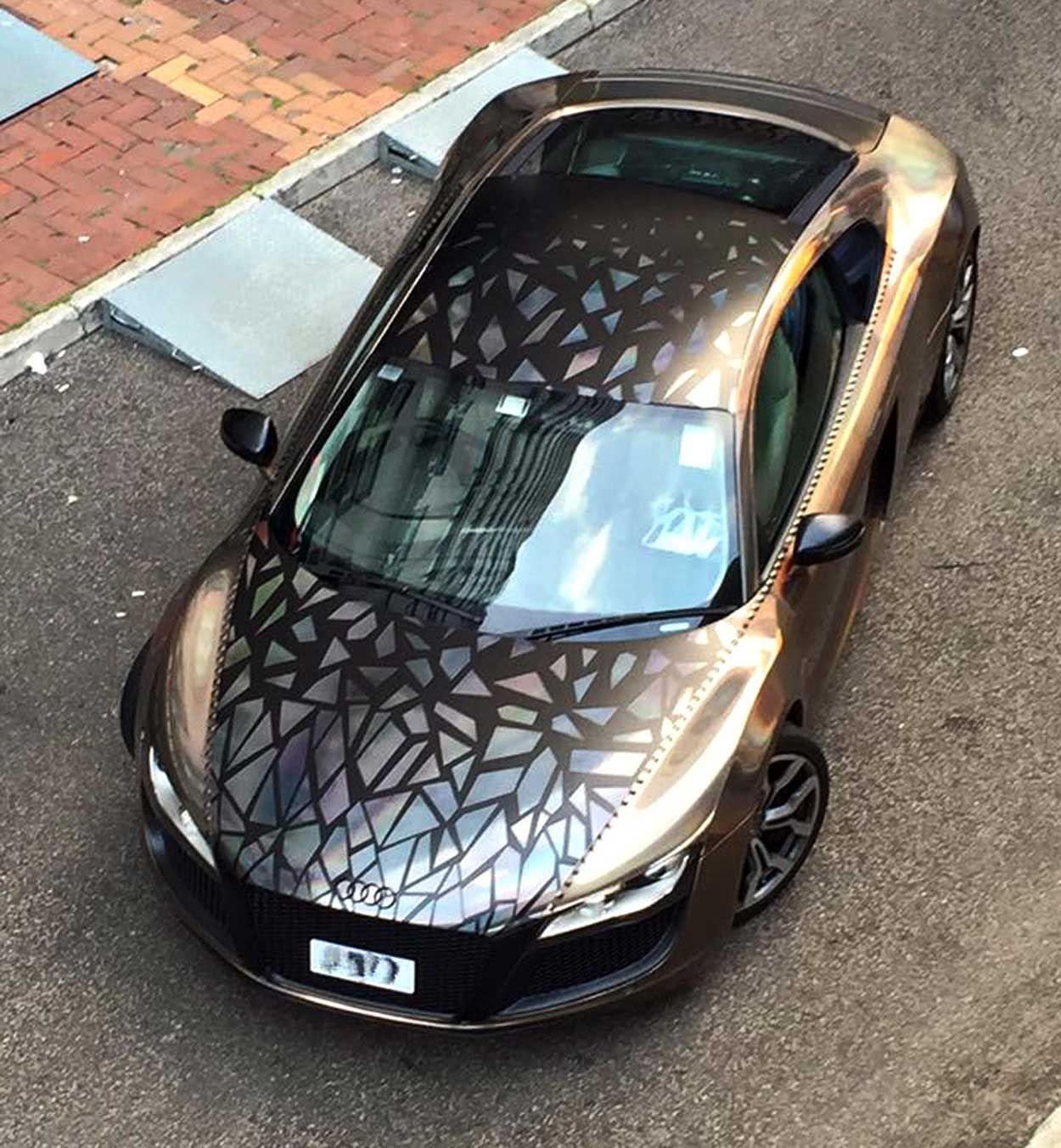 Holographic Audi R8 By Impressive Wrap Vinyl Wrap Car
