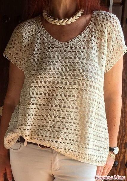 une tunique au crochet avec un point agréable - La Grenouille Tricote