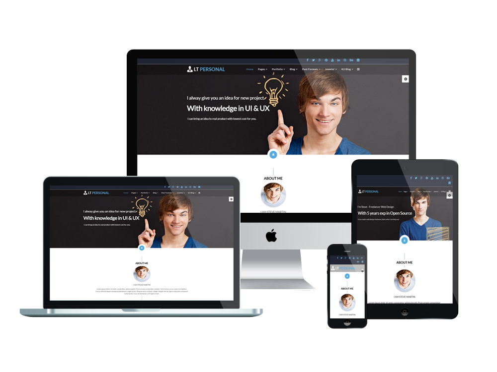 You Re Going To Build A Personal Website In Addition To The Quality And Useful Content A Beautiful And Engaging Joomla Templates Advanced Typography Joomla