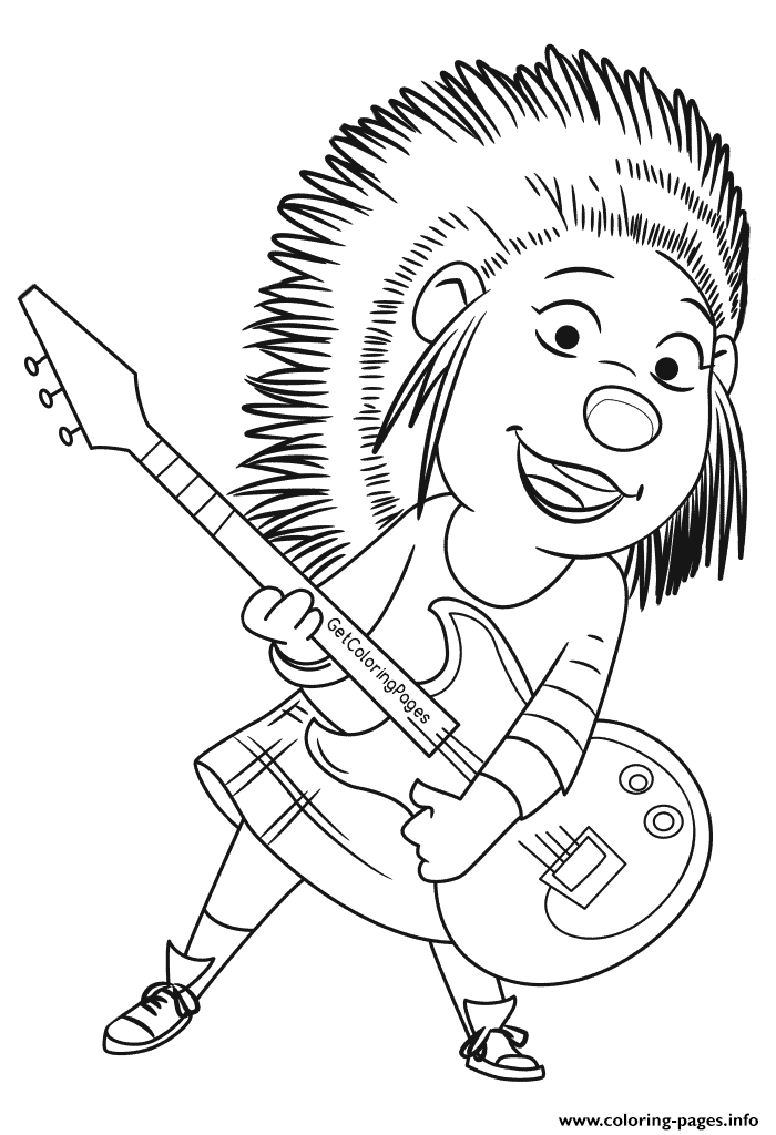 Print Sing Movie Black and White Coloring coloring pages