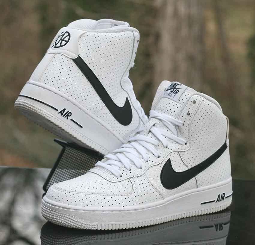 Nike Air Force 1 High Gs 07 White Black 653998 102 Kids Size 7y Nike Basketballshoes Nike Air Force Nike Air Force 1 High