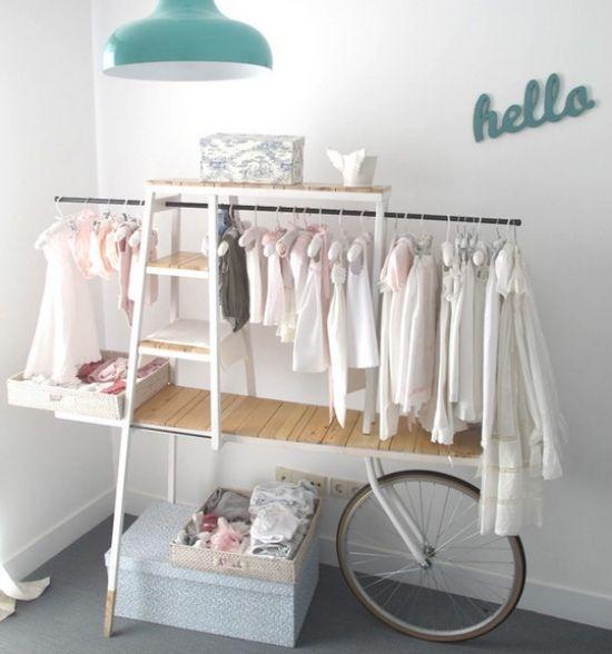 ideen kleiderstange design kinderzimmer mädchen | einrichtung