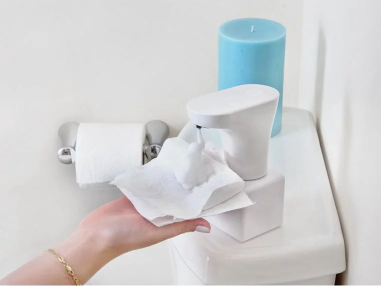 Toilet Paper Foam Dispenser Set In 2020 Toilet Paper Foam Dispenser Eco Friendly Toilet Cleaner