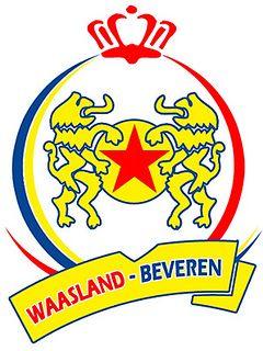 Koninklijke Voetbalclub Red Star Waasland Sportkring Beveren Waasland Beveren Team Badge Soccer Logo Football Team Logos