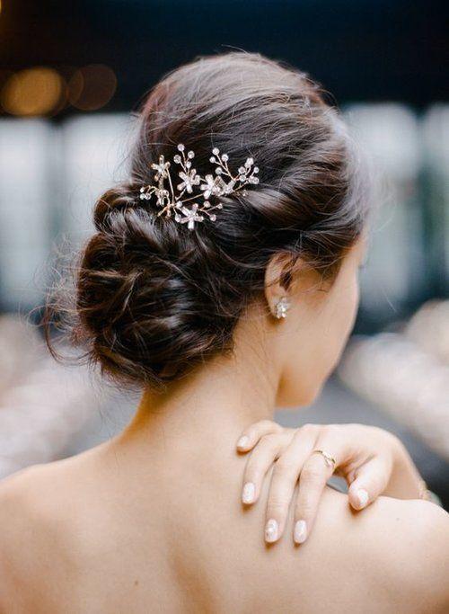 10 chignons flous de mariées — The reporthair | Elegant wedding hair, Wedding haircut, Unique ...