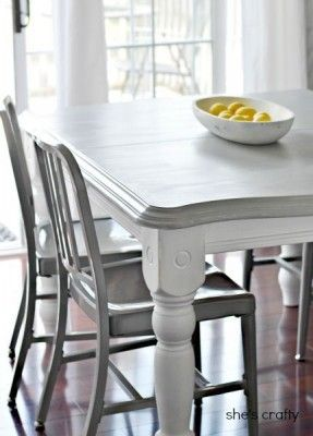 Grey Kitchen Tables Grey And White Painted Kitchen Table I