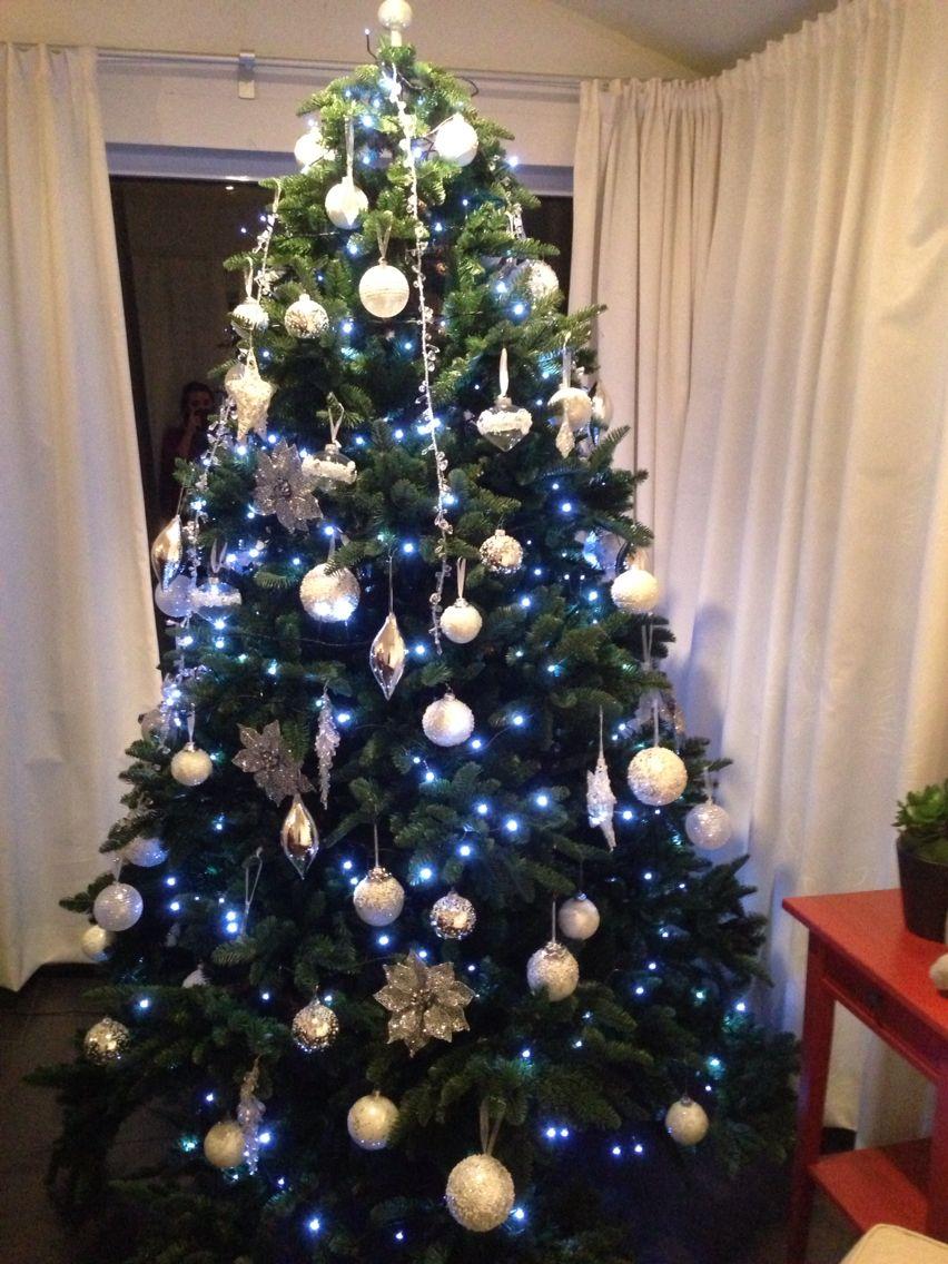 Kerstboom Versiering Wit Zilver Kerstboom Versieringen Kerstboom Kerst