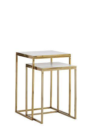 Ellos Home Gold-sarjapöydät