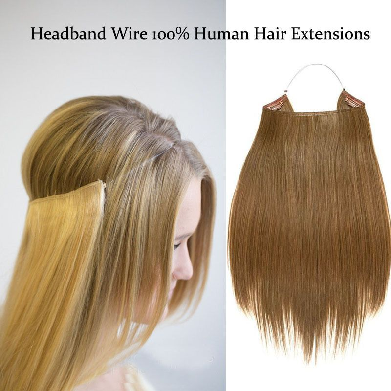 Blonde Hidden Halo Invisible Wire Flip Weft In 100 Remy Human Hair