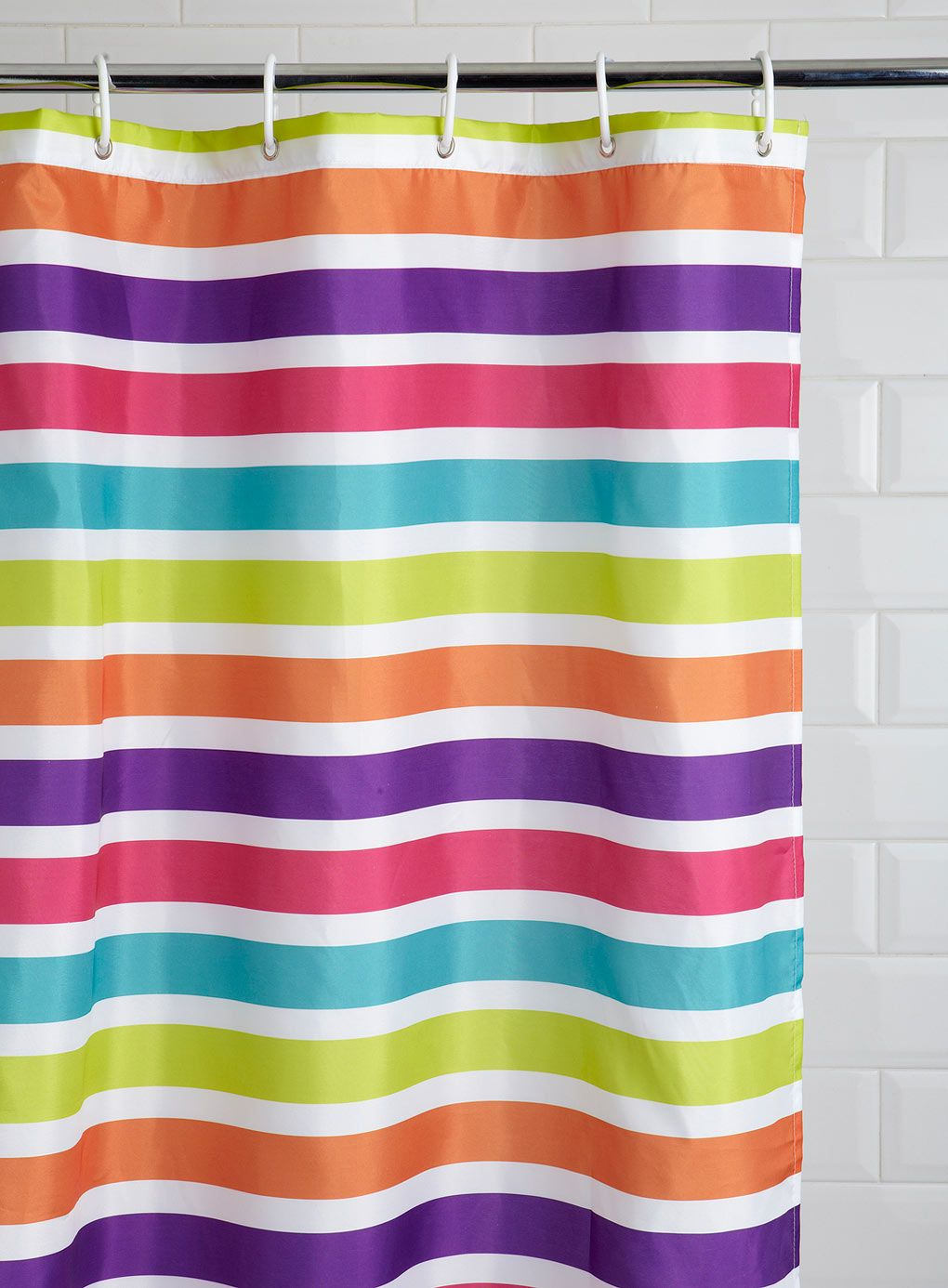 Brights Horizontal Stripe Shower Curtain
