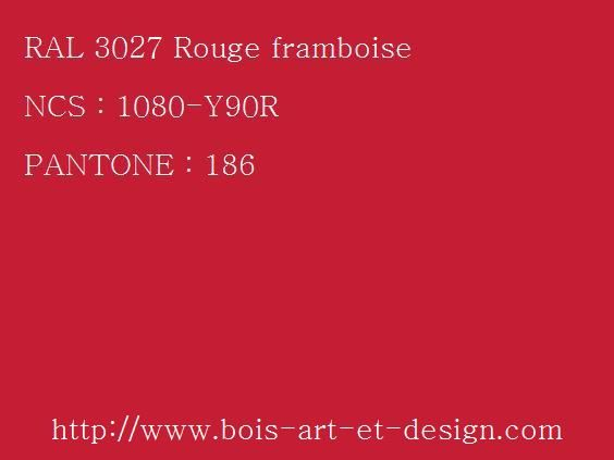 ral 3027 rouge 564 423 codes ral codes. Black Bedroom Furniture Sets. Home Design Ideas