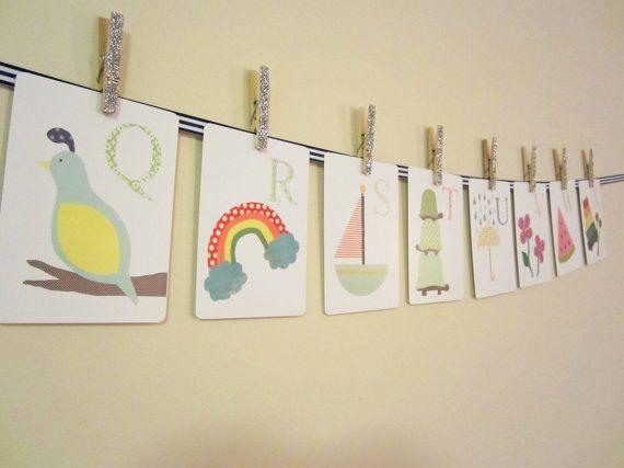 Alphabet Nursery Art Print Kid Wall Art Alphabet by justbunch, $34.50