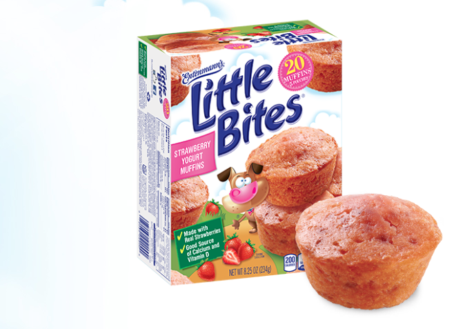 recipe: little bites strawberry yogurt muffins [11]