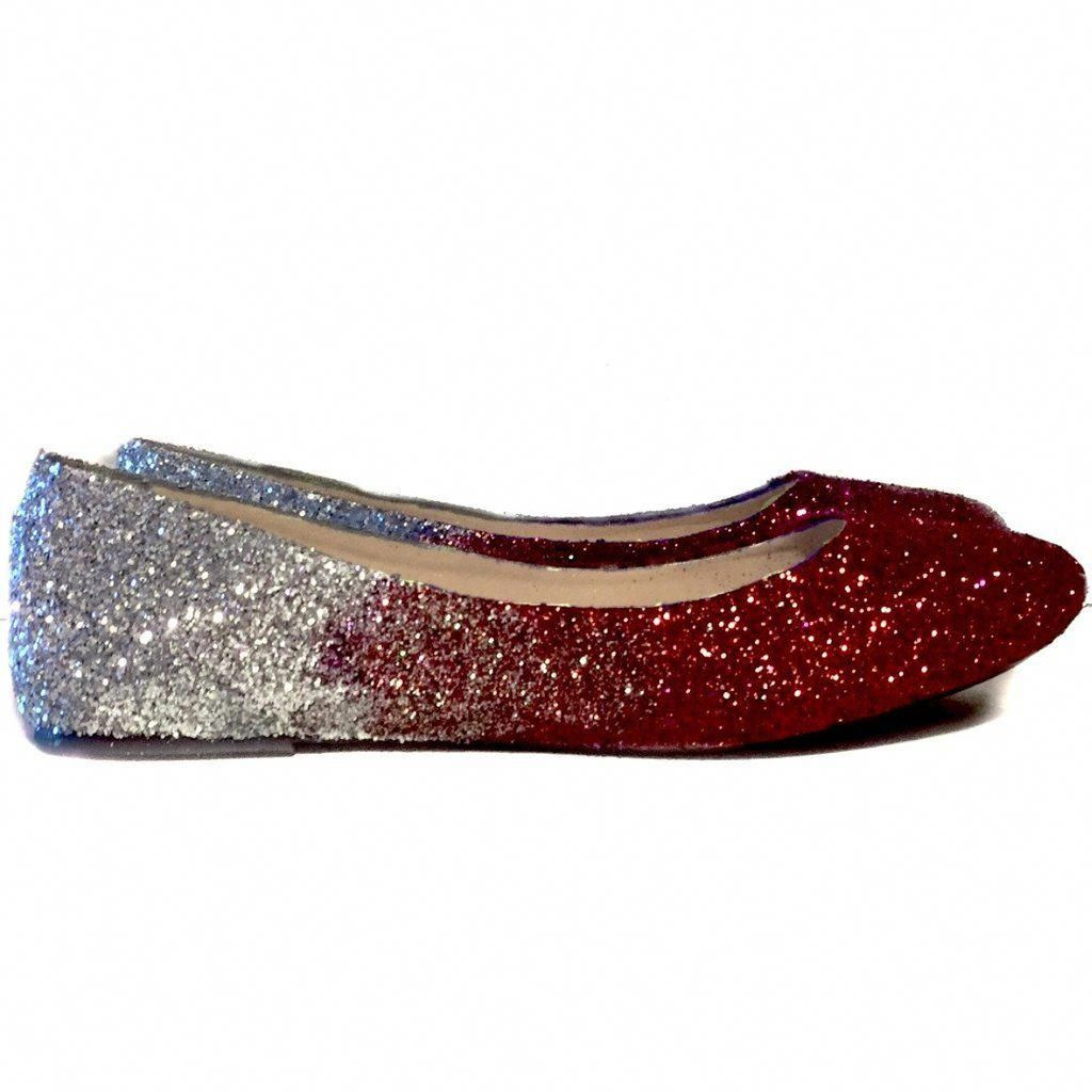 Women S Sparkly Burgundy Maroon Red Silver Ombre Glitter Ballet